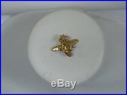18k Yellow Gold, Enamel, & Diamond Bumble Bee Brooch Pin