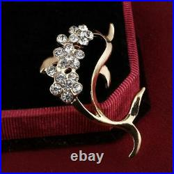 1.00 Ct Round Cut Diamond 14K Dolphin Brooch Pin Yellow Gold Over