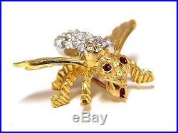 40ct diamonds bee pin brooch 18kt