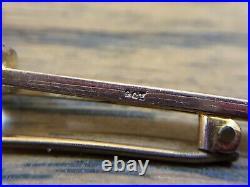 9ct Gold Aquamarine Bar Pin Brooch