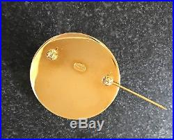 AUTHENTIC CHANEL Vintage Gold CC Pin/Brooch