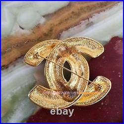 AUTH CHANEL XXL LARGE 2.5 CC BROOCH PIN 24K Gold Plated SUPER RARE FIND