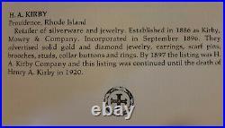 Antique Art Nouveau 14k Gold Snake Dragon Brooch Pin Estate Jewelry H. A Kirby