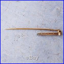 Antique Edwardian Diamond Stick Pin in 18k 20k gold, Hat Pin, Lapel Pin, Brooch