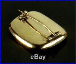 Antique Georgian 9k Gold Lovers Lovers Eye Brooch Pin
