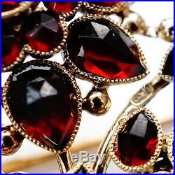 Antique Imperial Russian Faberge Gold 56 Garnet Pin Brooch K Pendant Jewelry RU