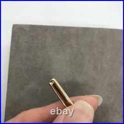Antique Krementz 14k yellow gold robin egg blue enamel seed pearl bar brooch pin