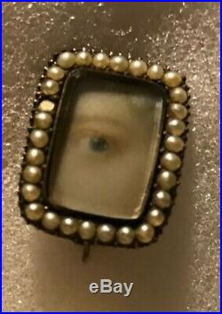 Antique Lovers Eye Brooch Pin