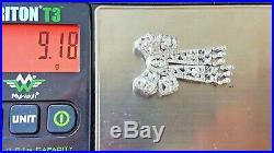 Antique Style Art Deco Diamond 18k White Gold Filigree Bow Pin Brooch Milgrain