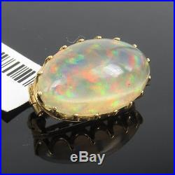 Antique Tiffany & Co Natural Untreated Opal & 18K Yellow Gold Pin Brooch