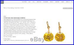 Antique c. 1878 Tiffany & Co. Owl Bird Japanese Fan Brooch Pin 18k Gold & Silver