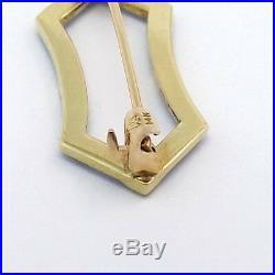 Art Nouveau 14k Gold Carter Howe Guilloche' Enamel Seed Pearl Petite Brooch Pin