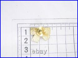 Auth CHANEL Accessory Pin Brooch Ribbon Motif 02 A CC Faux Pearl 41180002800 2