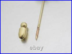 Auth CHANEL CC Logo Pin Brooch Goldtone Faux Pearl/Metal USED e48729a