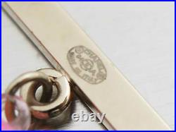 Auth CHANEL CC Logo Pin Brooch Pink/Goldtone Rhinestone/Resin/Metal e47120e