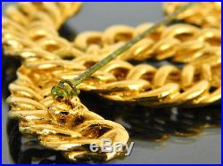 Authentic CHANEL CC Goldtone Large Pin Brooch + Box