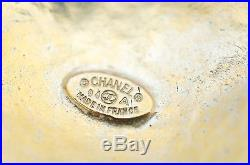 Authentic CHANEL CC Logo Gold Tone Pin brooch 94A Vintage