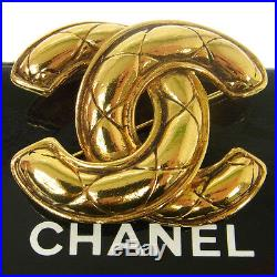 Authentic CHANEL Vintage CC Logos Brooch Pin Corsage Gold Accessories AK17486f