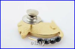 Authentic Chanel Brooch Pin Mouse White X Gold X Black 816421
