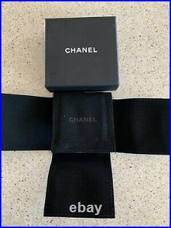 Authentic Chanel Golden Crystal Brooch Pin CC