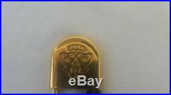 Authentic Gucci Vintage Gold Plated Brooch Pin
