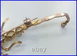 Beautiful Antique Victorian 10k Yellow Gold Opal Ruby Scorpion Pin Brooch