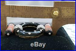 Black Onyx Coral Diamond Brooch Pin Retro Vintage 18K Gold Art Deco Style 9.5 gm
