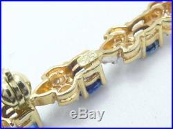 Brosche Anstecknadel 585 GOLD pin brooch Brillanten Diamanten Saphir Safir oro