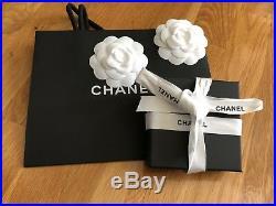 CHANEL 2017 XL OUTLINE CUTOUT Crystal Strass CC Logo Gold BROOCH Pin NIB +Bag
