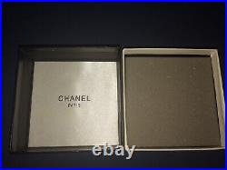 CHANEL Authentic Large Crystal Pearl CC Logo Brooch Pin Gold Tone with Box