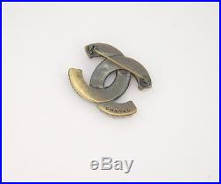 CHANEL CC Logo Pearl Vintage Brooch Pin 00A withBOX #2148