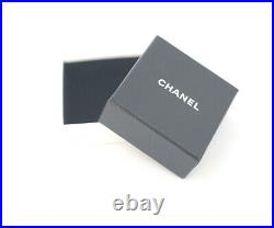CHANEL CC Logo Red Gripoix Stone Brooch Gold Pin Vintage withBOX v1372