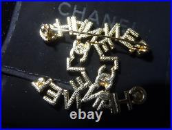 CHANEL CC Pin Brooch Jewelry Size 2 X 1.5