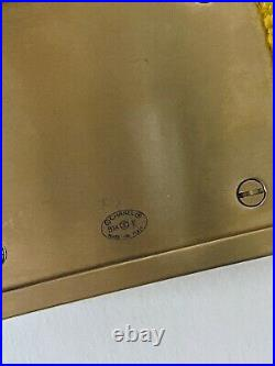 CHANEL Designer Runway 2014 Yellow Tweed Gold-toned Metal CC Logo Pin Brooch