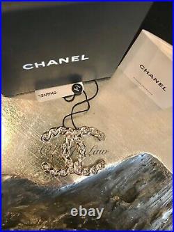 CHANEL Pearl Coronation Crystal CC Brooch Jeweled Pin Gold NEW XL NWT NIB