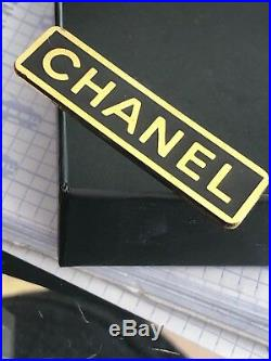 Chanel Brooch Pin Authentic Rare Black Gold I HAVE TWO FOR SALE