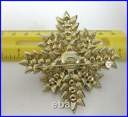 Chanel CC logo XL Crystals Gold Tone Pin/Brooch