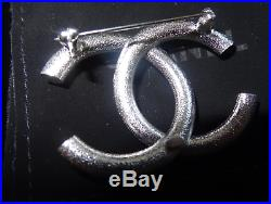 Chanel Classic Double CC Logo Brooch Pin
