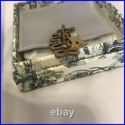 Christian Dior Jadior Crystal Diamonte Gold Star Pin Brooch Hair Clip Choker