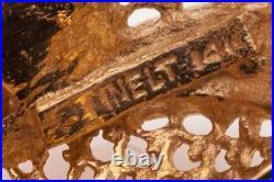 Designer $2000 1ct RUBY Diamond 14k Yellow Gold WHALE FISH Brooch Pin