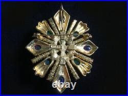 Dramatic Rare Signed CINER Jewels of India Pin / Brooch