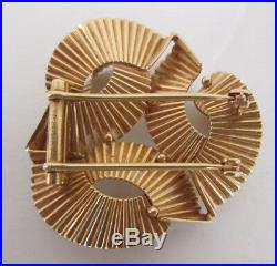 Estate Jewelry 14k Yellow Gold Cartier CA Brooch Pin 1940's