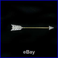 Fine ART DECO Platinum & 15 carat Gold Diamond Love Arrow Jabot brooch, pin