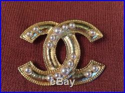 Genuine Chanel Gold Brooch / Pin