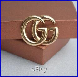 Gold Gucci Double G Employee Brooch Pin