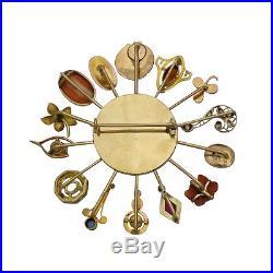 Large Victorian, Art Nouveau 14K Gold Stick Pin / Stickpin Brooch