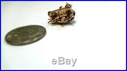 Levian 18K Gold Ladybug Pin Brooch Rubies, Sapphires, & Diamonds! Emerald Eyes