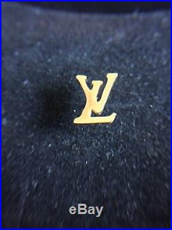 Louis Vuitton LV Brooch, Lapel Pin, Tie Tack Gold Colored