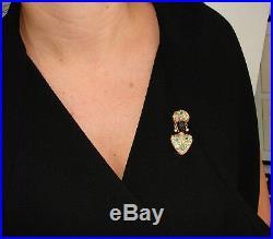 NARDI Blackamoor Pin BROOCH Clip Ebony Wood Emerald Diamond Yellow Gold Italy