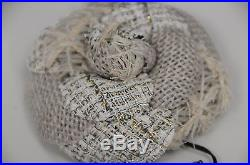 NEW in Box CHANEL Biege Gold Silver PIN Brooch CAMELLIA Flower RARE